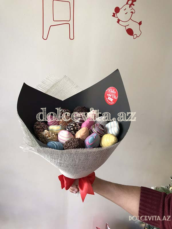 Choco strawberry bouquet 23 pieces