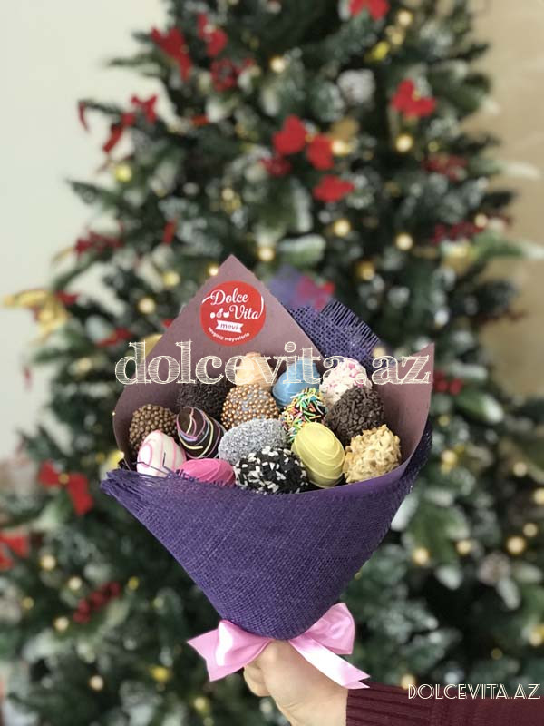 Choco strawberry bouquet 15 pieces