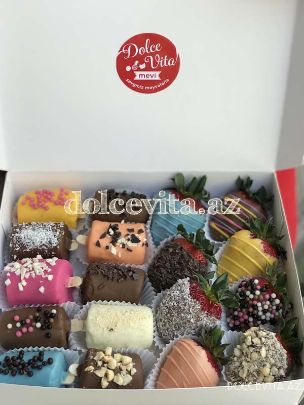 Choco strawberry&banana box 8+10 pieces