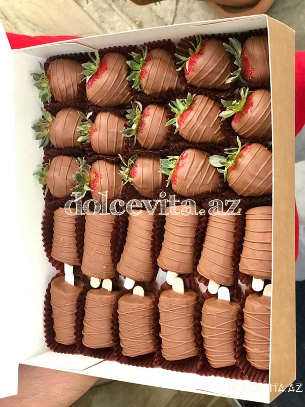 Choco strawberry&banana box 15+12 pieces