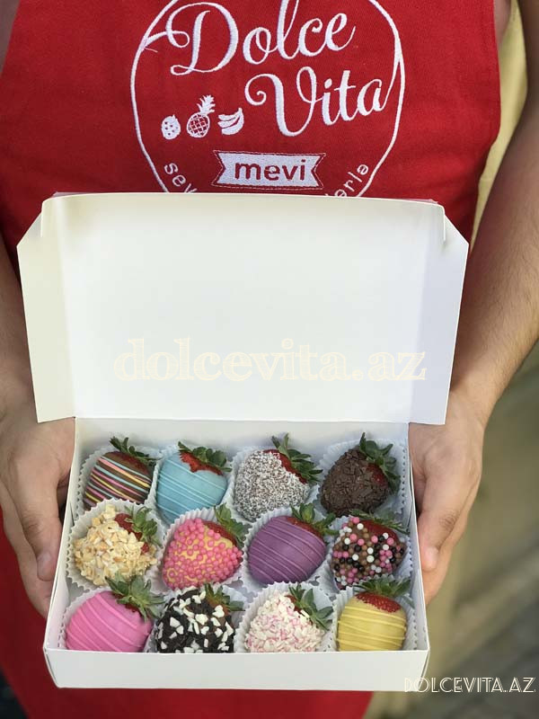 Choco strawberry box 12 pieces