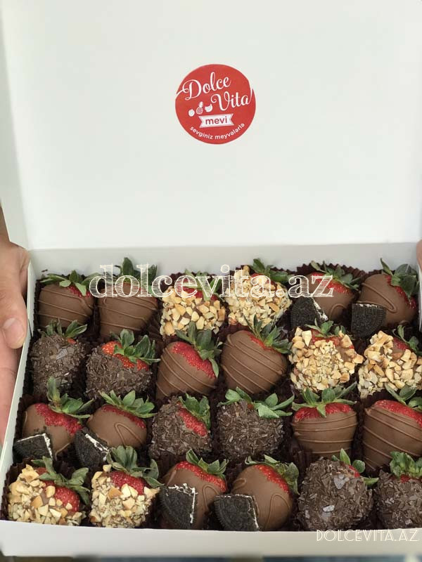 Choco strawberry box 24 pieces