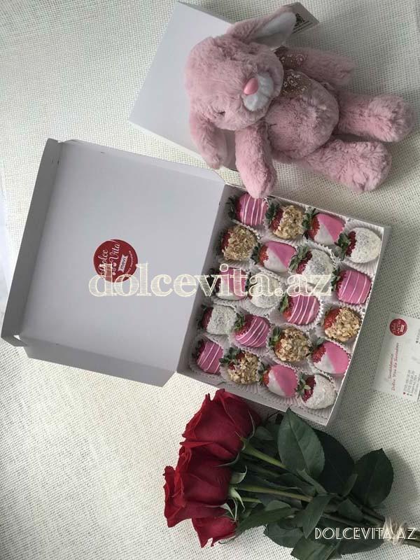 Choco strawberry box 20 pieces