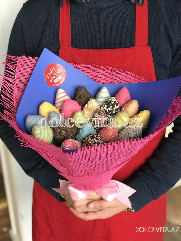 Choco strawberry bouquet 21 pieces