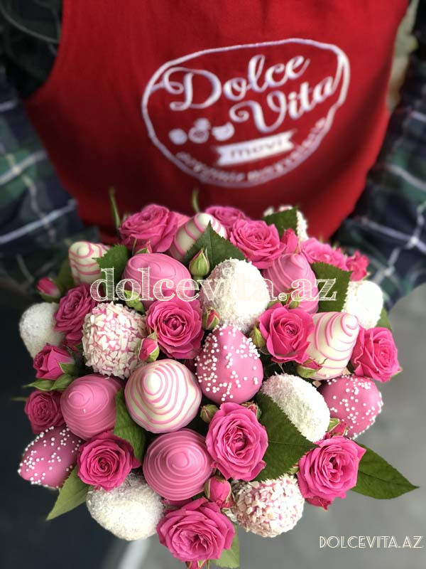 Pot with spray roses 15 pieces