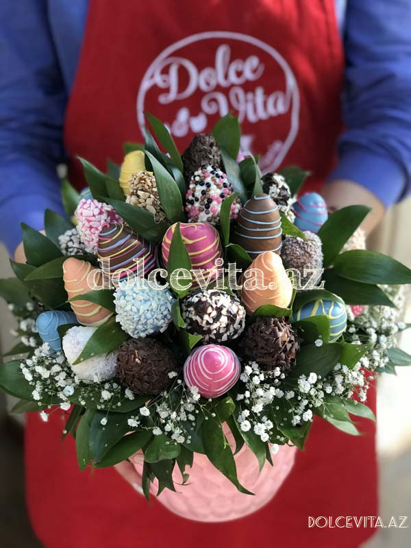 Choco strawberry in pot 15 pieces