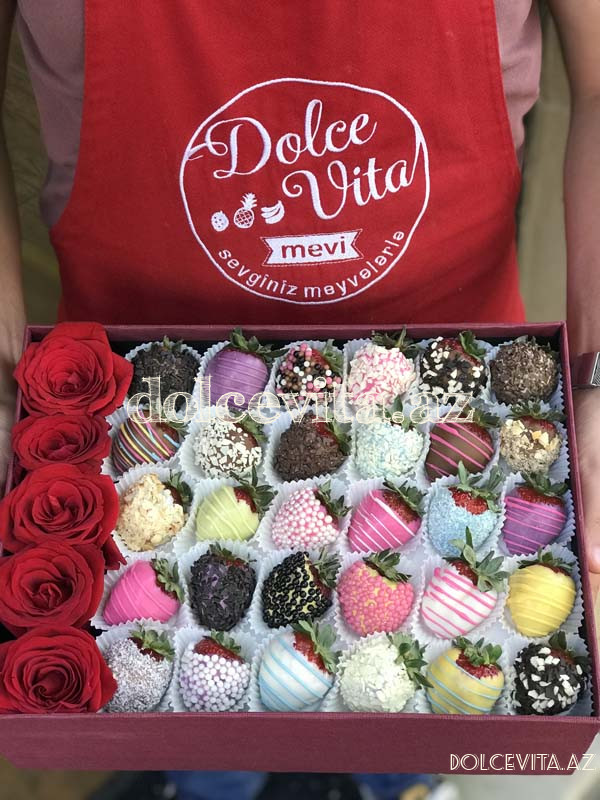 Special box with 5 roses